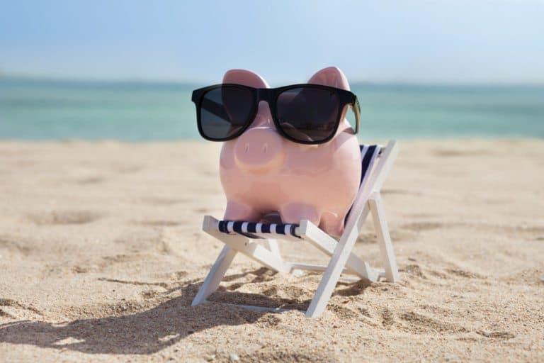 Spargris på stranden