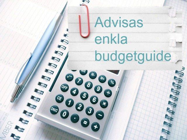 Advisas enkla budgetguide